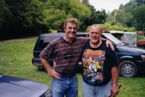 Bruce McKinnon (Jeb Spencer) and Larry Myers visitin in Del Rio